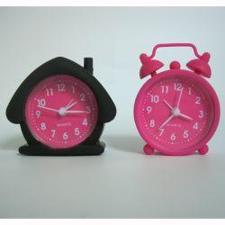 Mini de silicona resistente de la moda de cuarzo Reloj Despertador mesa