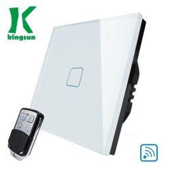 UK WiFi distant Touch Interrupteur blanc (1G1W) panneau de verre