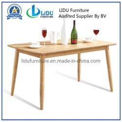 Grande salle à manger en bois rectangulaire Table Table de dîner avec du bois de chêne