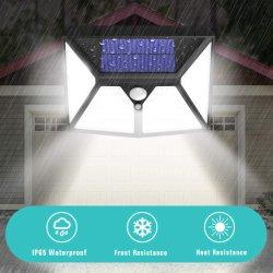 Parede com luz solar LED 2020 98 LEDs 6500K à prova de cor branca com sensor de movimentos PIR e 3 modos de luz da lâmpada no pátio do jardim