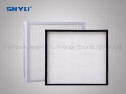 H12, H13 Filtro HEPA H14 con el apoyo de Media rejilla para una habitación limpia y los filtros de quirófano, fibra de vidrio Filtro de aire de FFU
