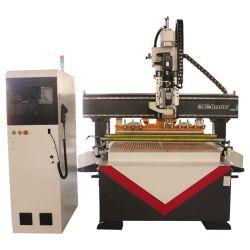 4 Mittellinien-sah linearer ATC CNC-Fräser Holzbearbeitung-Maschinerie mit Drehmittellinie 1325 1530 2030