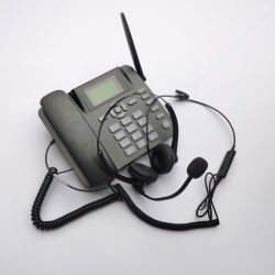 Telefone da rede fixa sem fio de discagem automática com 4 g de cartão SIM e atender o telefone