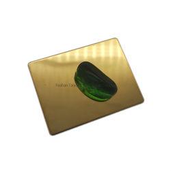 طلاء ذهبي وردي عالي الجودة الطلاء 201 304 316 304L 316L 430 مم اهتزازات 2 مم 1200X2500minox معدن مقاوم للصدأ اللوحة