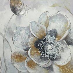 居間のための抽象的な花の油絵のキャンバスの芸術の壁映像