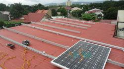 طقم تركيب على السقف الشمسي للوحات الشمسية المضلعة 1000 واط