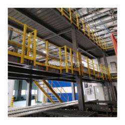 2-3 Ebenen Heavy Duty Mezzanine Regallager Stahlplattform