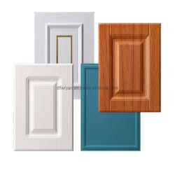 Mobiliário de cozinha Peças 18mm Thermofoil RTF PVC MDF vácuo armário de cozinha/porta a porta do armário