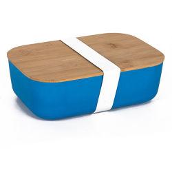 2020 Venta caliente Contenedor de almacenamiento de comida ecológica de bambú sin BPA Bento Box Lunch con tapa