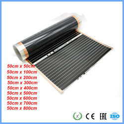 220V 50cm Breiten-gesunde Fußboden-Heizungs-Infrarotbodenheizung-Kohlenstoff-Film-Heizung