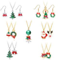Mode bijoux Noël X' Mas de vacances avec de l'émail Earring Ensemble de collier