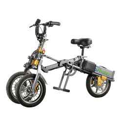 3 dobragem roda 500W Bateria de lítio do Motor Potência Aluguer China Electric Mini Pocket Bike