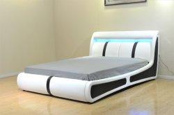 Плоские деревянные кровати кровать съемная кровать квадратных кровать Custom кровати кровати белого Non-Removable регулируемые кровати светодиодный индикатор кровать спальня мебель
