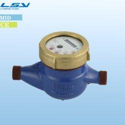 Lsy multi jet de liquide de type scellé Compteur d'eau en laiton 15mm