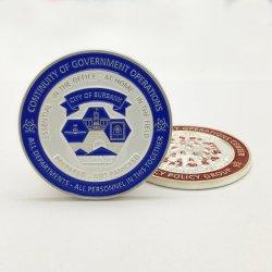 工場カスタム緊急措置の中心はバッジの専門の供給3Dの金属のクラフトのギフト用の箱が付いている軍の名誉の挑戦硬貨を記念する