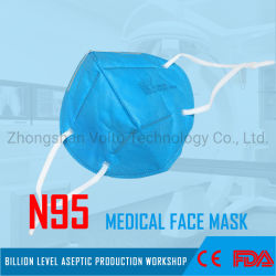 保護FFP2 Hosptialの医薬品のための使い捨て可能なNon-Woven N95の医学の外科表面顔マスクの5つの層
