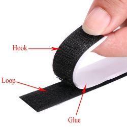 Doppelter seitlicher starker klebriger anhaftender Nylonhaken u. Schleifen-Band