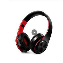 HiFi 입체 음향 이어폰 Bluetooth 헤드폰 음악 헤드폰 FM 및 지원 SD 카드