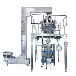 マルチヘッド計量器の自動垂直フォーム充填シール包装機、ビスケットナットキャンディーチョコレートグミポテトチップスナック計量充填機