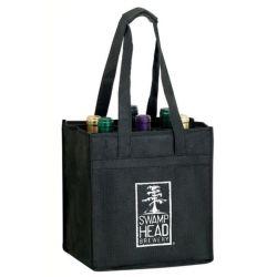 حقيبة قنينة النبيذ الترويجية المخصصة غير المحبوكة وحقائب نقل وحقائب هدايا من النبيذ وحقيبة مقسّمة مناسبة للزجاجات والأراص والعلب والزجاجات والحاويات