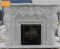 特注大理石彫刻彫刻彫刻彫刻サラウンドマンテルストーン暖炉 (GSMF-309)