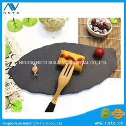 Высокое качество природного камня Slate ужин пластину