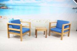 General El uso en exteriores mobiliario de jardín de madera de teca sofá con cojín y la tabla