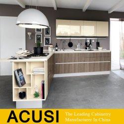 新式のメラミンボードの光沢度の高いラッカー食器棚(ACS2-W207)