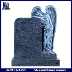 Masa caliente de Venta de granito azul Monumento de piedra con llanto permanente Angel