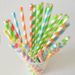 Het milieuvriendelijke het Drinken van de Levering van de Partij Gestreepte Stro van het Document in plaats van Plastic Buis