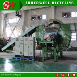 Gran capacidad destructora de eje doble para reciclar residuos completa del coche/neumáticos para camiones