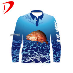 Сублимация печать трикотажные футболки Blank полиэстер Upf 50 рубашку для УФ защита рыболовных Джерси