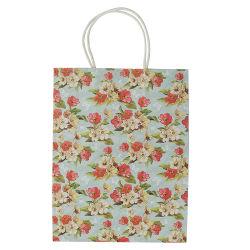 Custom Die Cut poignée sac cadeau en papier kraft sac de papier coloré avec logo imprimé