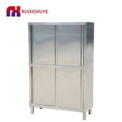 Четыре двери сдвижной двери щиток приборов из нержавеющей стали металлический шкаф для хранения