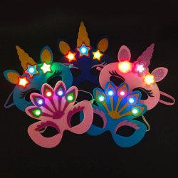 Fête de l'enfant de lumière LED Masque Unicorn feutre