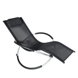 Meilleur orbitale Sell-Aluminum Rocking salon /chaise de plage (ETH-001)