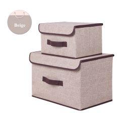 Из двух частей, одежду Toy ящик для хранения Non-Woven ткань общежития ящик с крышкой