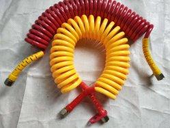 PU-Schlauch mit Luftspule/Spiralschlauch/Feder und Schnelltrennfittings Staubabsaugrohr