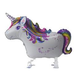 Unicorn marche Ballon d'aluminium Animal Parti Unicorn Décoration Cute jouet Unicorn