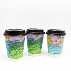 100% 채소 급료 종이 1 시간 사용 도매 최신 커피 종이컵