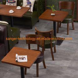 Западный ресторан Кафе можно настроить столы и стулья молока чайная комната тема ресторан орехового дерева есть обеденные столы