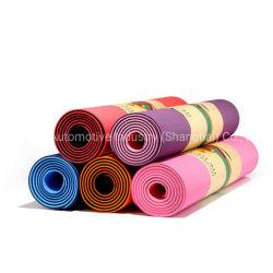 A buon mercato a strati stuoia spessa supplementare 6mm antisdrucciolevole di yoga della stuoia 5mm PU/NBR/EVA/PVC/TPE di esercitazione con la cinghia di trasporto