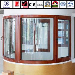 단단한 나무 개가시나무 강화 유리 여닫이 창 Windows