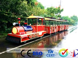Bezienswaardigheden bezoekend de Elektrische MiniTrein van de Trein 14 Meters van dsw-E27A