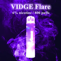 グローディスポーザブルポッドデバイス 800 個のパック 7 色グローベプ ペン 10 オプション Vape キットには、 Vidge Flare があらかじめ充填されています