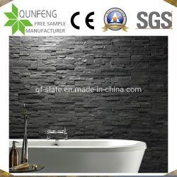 Внутренней и наружной декоративной культуры камня черный Китай Доски настенные плитки