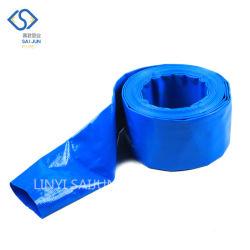 Blue 2 3 4 인치 Flexible PVC Layflat Sunny Water ISO 9001이 설치된 호스 파이프 공장