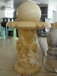 自然な石造りの庭の製品の装飾のFengshui大理石球の圧延の噴水
