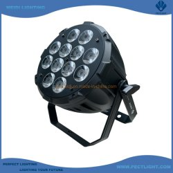 工場価格ナロービーム 12X12W LED PAR CAN ステージ・ディスコ RGBWA 5in1 のエフェクトライト