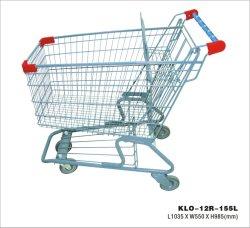 As vendas de fábrica metal carrinho de compras com Assento bebê 60-240L Supermercado Carrinho de Compras